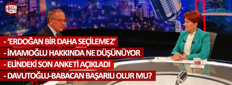 """Meral Akşener: """"HDP ile ittifaka 'Hayır' deriz"""""""