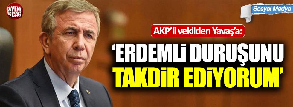 AKP'li Mustafa Yeneroğlu'ndan Mansur Yavaş'a destek