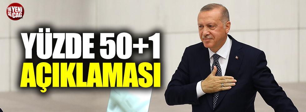 Erdoğan'dan yüzde 50 artı bir açıklaması