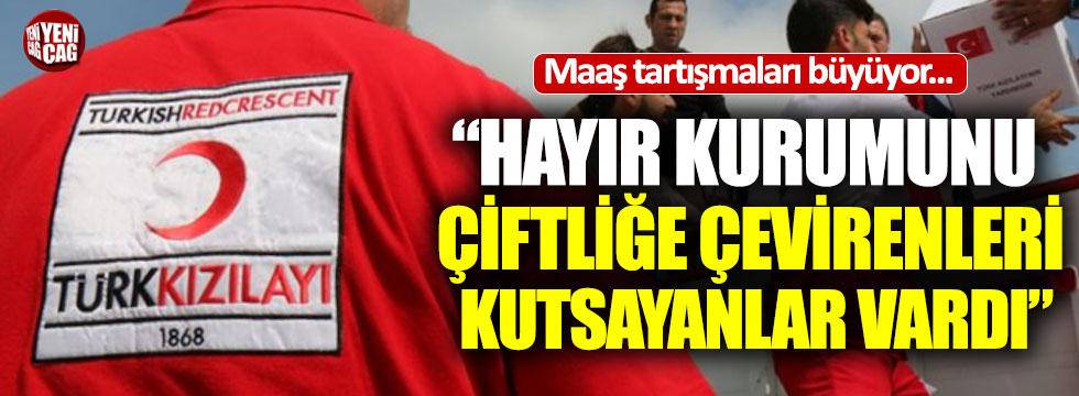 Türkkan'dan Kızılay tepkisi