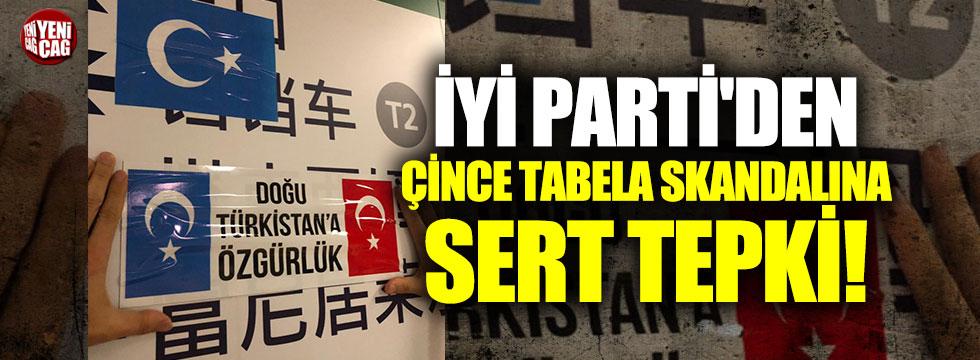 İBB'ye Çince tabela tepkisi