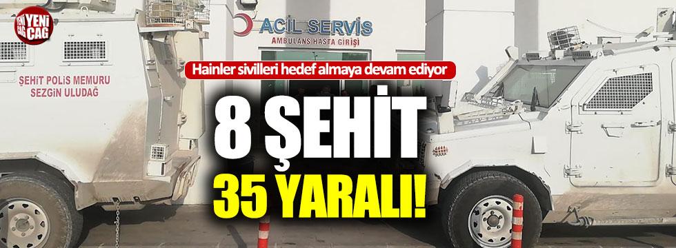 Mardin Valiliği: 8 şehit, 35 yaralı