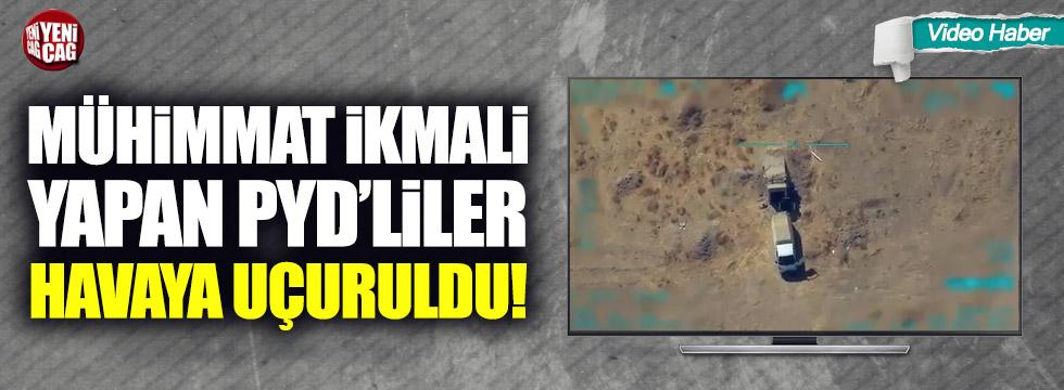 Mühimmat ikmali yapan PKK'lılar havaya uçuruldu