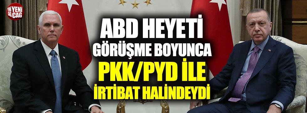 ABD heyeti görüşme boyunca PKK ile irtibat halindeydi