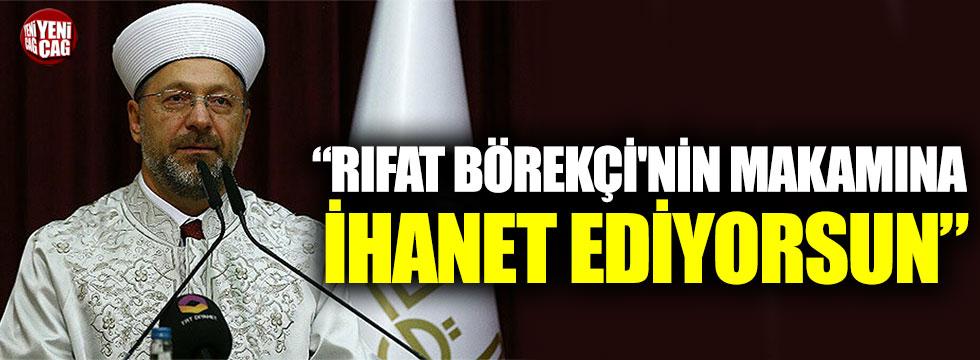 """Ümit Özdağ'dan Ali Erbaş'a: """"Rıfat Börekçi'nin makamına ihanet ediyorsun"""""""