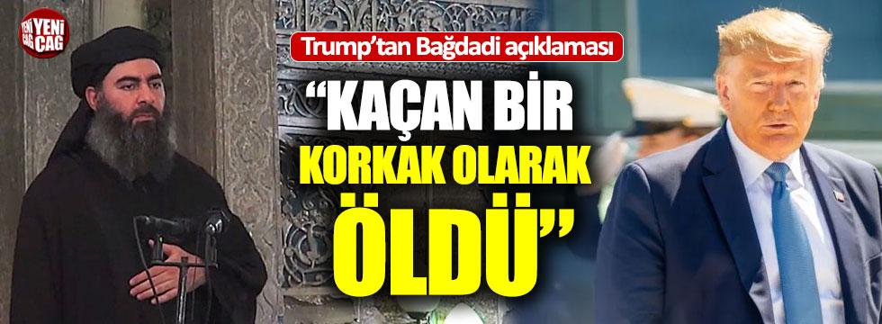 Trump açıkladı: El Bağdadi öldü