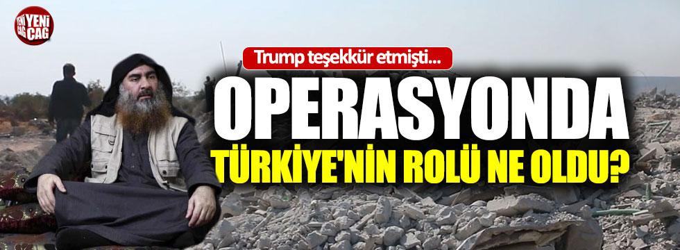 Bağdadi operasyonunda Türkiye'nin rolü