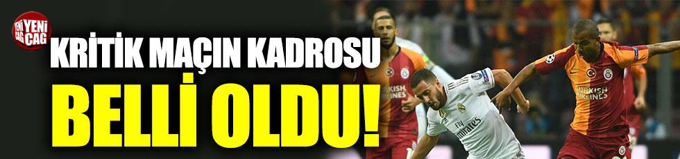 Galatasaray'ın Real Madrid maçı kadrosu belli oldu