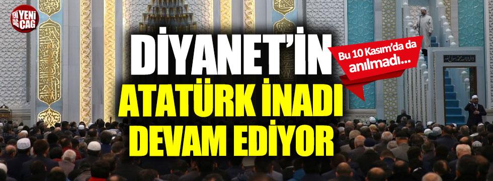 Diyanet Atatürk'ü yine pas geçti