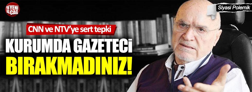 """Hıncal Uluç'tan NTV ve CNN Türk'e tepki: """"Kovmaktan gazeteci bırakmadınız"""""""