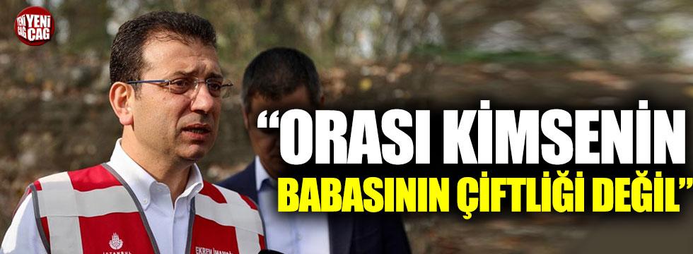 Ekrem İmamoğlu'ndan Murat Kurum'a yanıt