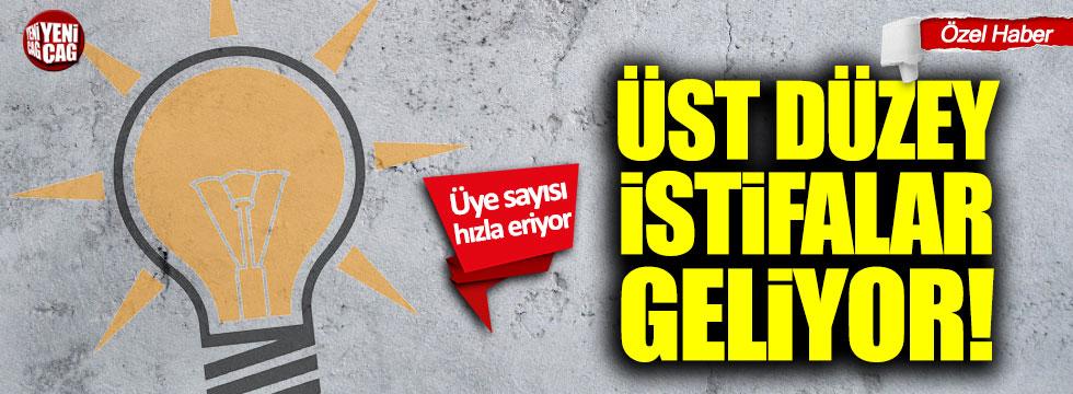 AKP'de üst düzey istifalar yaşanacak
