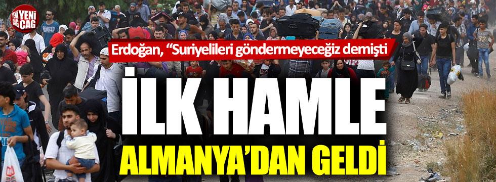 """Erdoğan, """"Suriyelileri göndermeyeceğiz demişti: İlk hamle Almanya'dan geldi"""