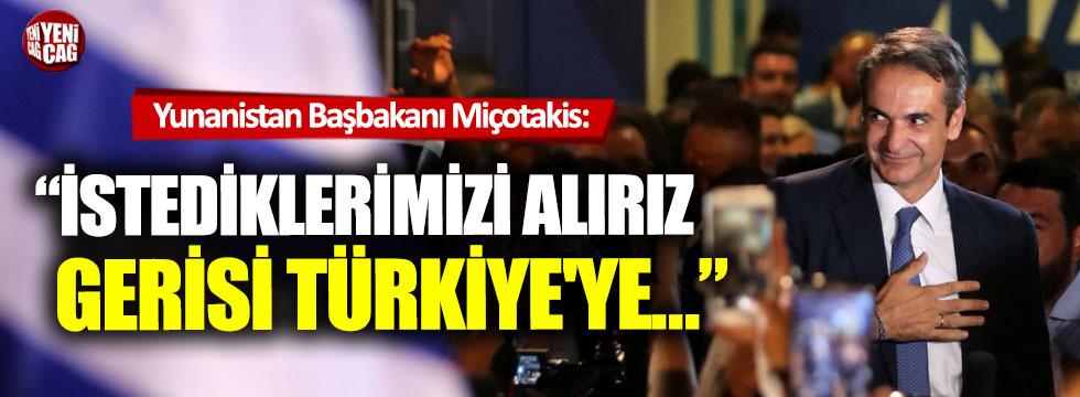 """Miçotakis, """"İstediklerimizi alırız, gerisi Türkiye'ye"""""""