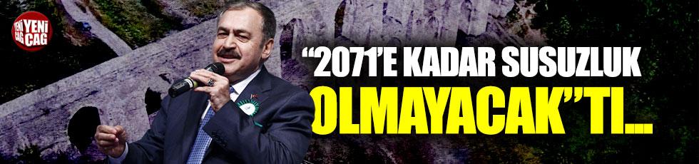 """İstanbul'un su sorunu eski Bakan'ın sözlerini hatırlattı: """"2071'e kadar çözdük"""""""