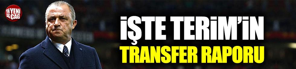 Galatasaray'da Fatih Terim'in transfer raporu belli oldu