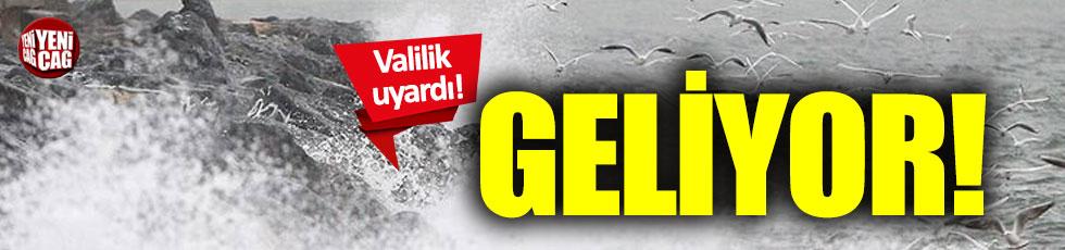 İstanbul Valiliği'nden fırtına uyarısı