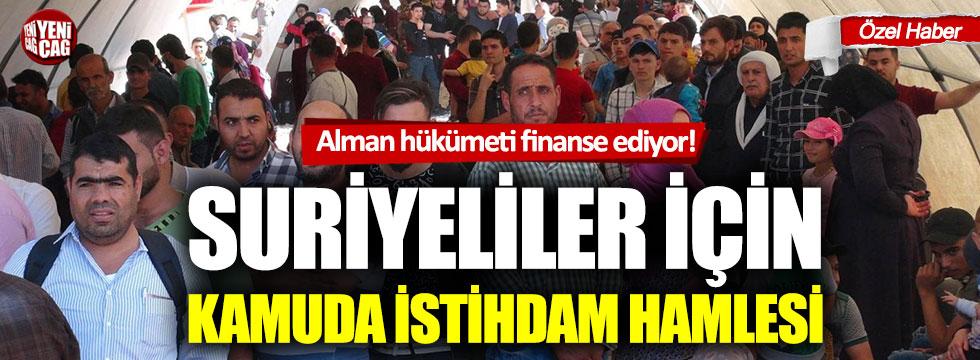 Suriyelileri Türkiye'de istihdam etmek için yeni proje!