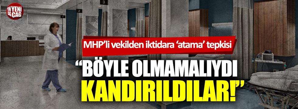 MHP'li Sefer Aycan'dan iktidara 'atama' tepkisi!
