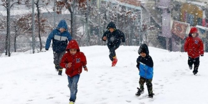 Refahiye'de okullara kar tatili