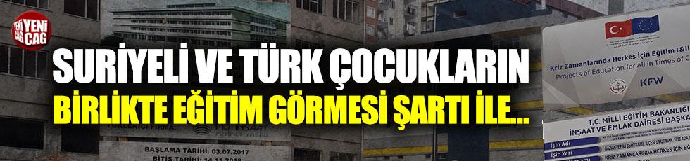 Suriyeliler ile Türk çocuklarına aynı okulda okuma zorunluluğu