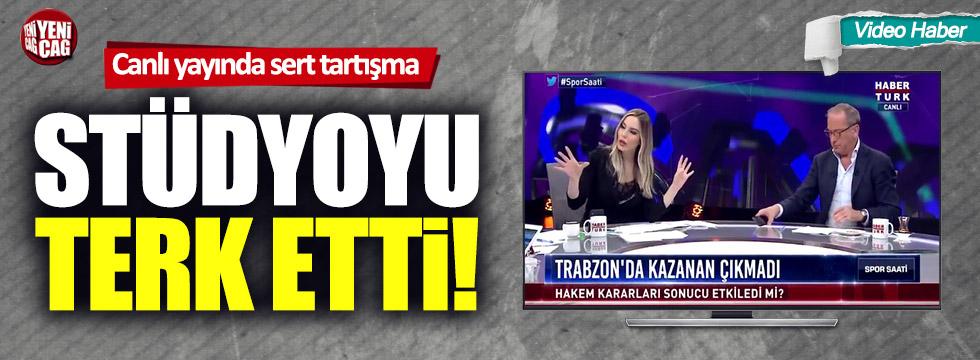 Fatih Altaylı, Hande Sarıoğlu ile tartıştı, yayını terk etti