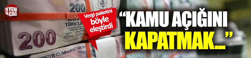 """TÜSİAD'dan vergi tepkisi: """"Kamu açığı..."""""""