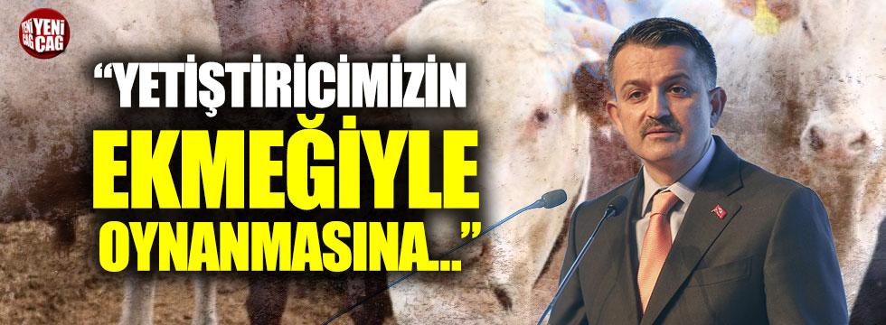 Bekir Pakdemirli'den hayvan ithalatı açıklaması