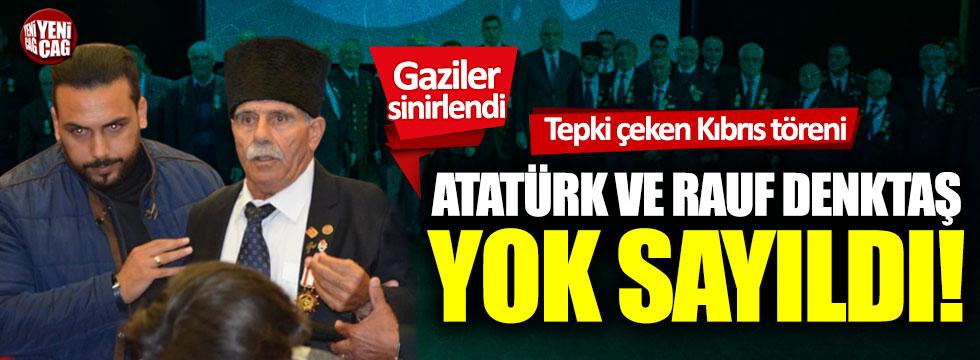 Tepki çeken Kıbrıs töreni: Atatürk ve Rauf Denktaş yok sayıldı!