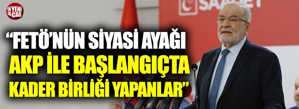 Temel Karamollaoğlu'ndan AKP'ye FETÖ'nün siyasi ayağı tepkisi