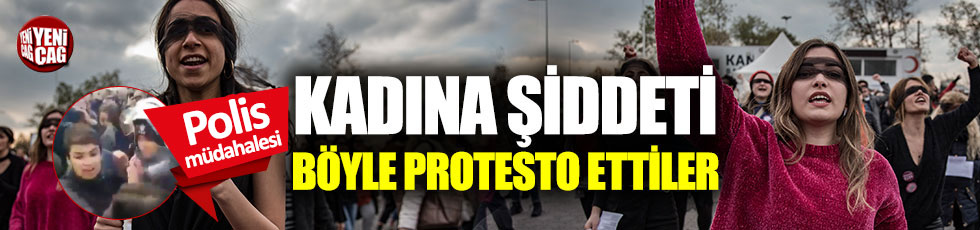 Danslı protestoya polis müdahalesi