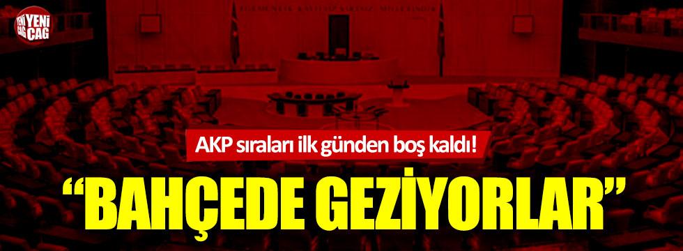 Bütçe görüşmelerinin ilk gününde, AKP sıraları boş kaldı