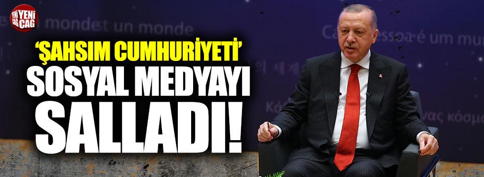 Erdoğan Türkiye yerine şahsım dedi: Sosyal medya sallandı