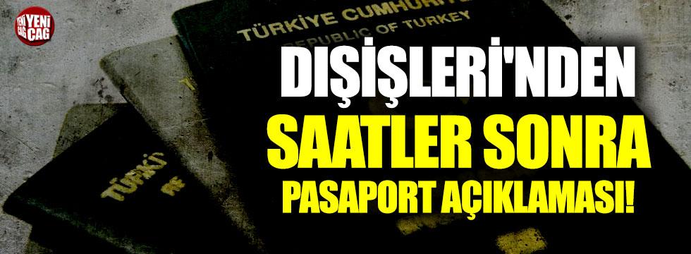 Dışişleri'nden pasaport iddialarına yalanlama