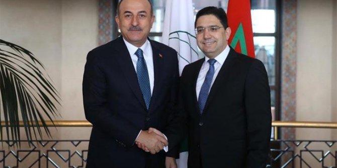 Bakan Çavuşoğlu, Faslı mevkidaşıyla görüştü