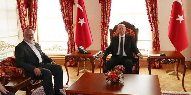 Erdoğan, İsmail Haniye ile görüştü
