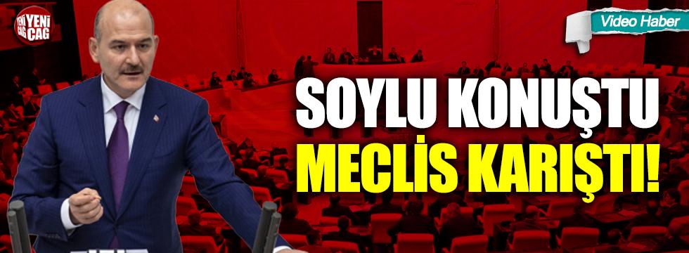 Süleyman Soylu konuştu, Meclis karıştı!
