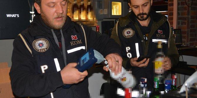 Adana'da 300 polisle sahte içki denetimi