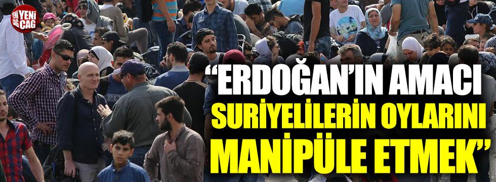 """Ahmet Kamil Erozan: """"Erdoğan'ın amacı, Suriyelilerin oylarını manipüle etmek"""""""
