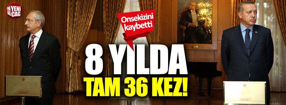 Tayyip Erdoğan, Kemal Kılıçdaroğlu'na 36 dava açmış!