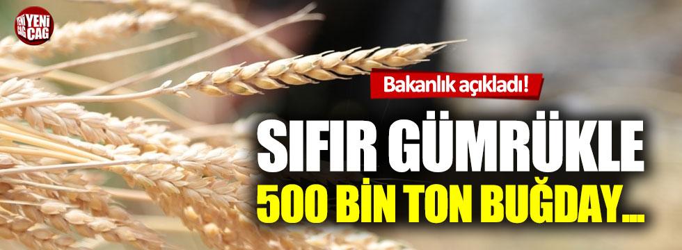 Bakanlıktan, 'sıfır gümrükle buğday ithali' açıklaması