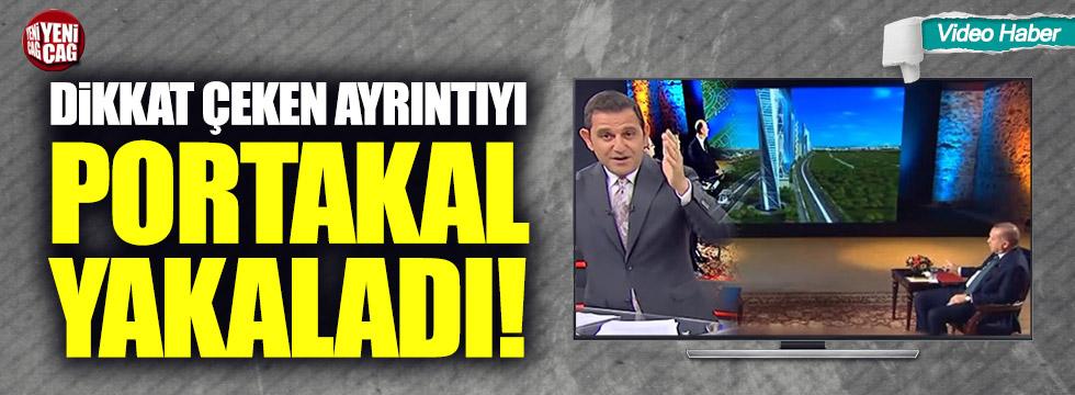 Fatih Portakal, Tayyip Erdoğan'la ilgili ayrıntıyı yakaladı