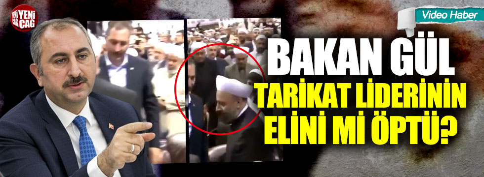 Abdulhamit Gül, tarikat liderinin elini öptü iddiası!