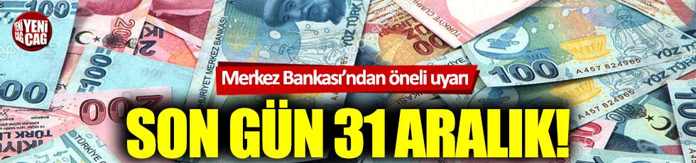 Merkez Bankası'ndan YTL uyarısı!