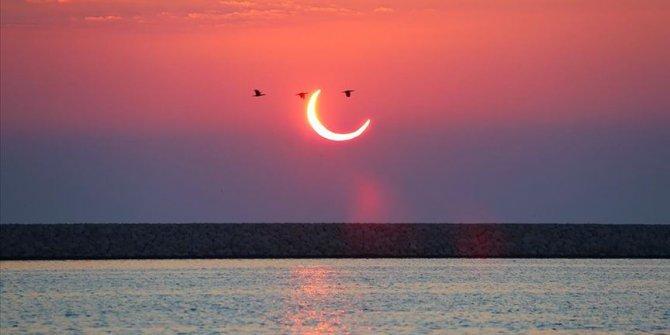 Yılın son Güneş tutulması gerçekleşti! Çin, Endonezya, Pakistan...