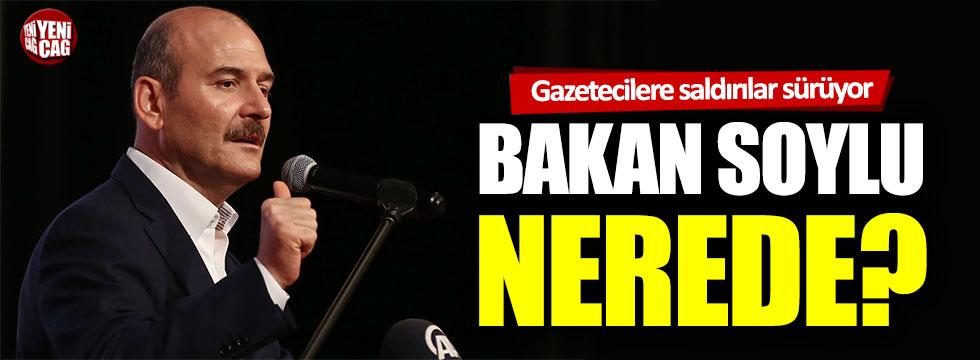 Gazetecilere saldırılar yeniden gündemde: Bakan Soylu nerede?