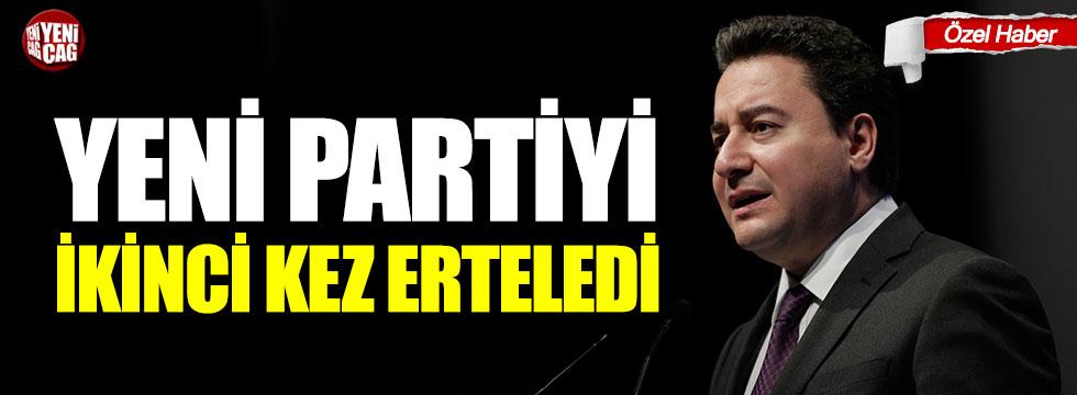 Ali Babacan yeni partiyi ikinci kez erteledi!