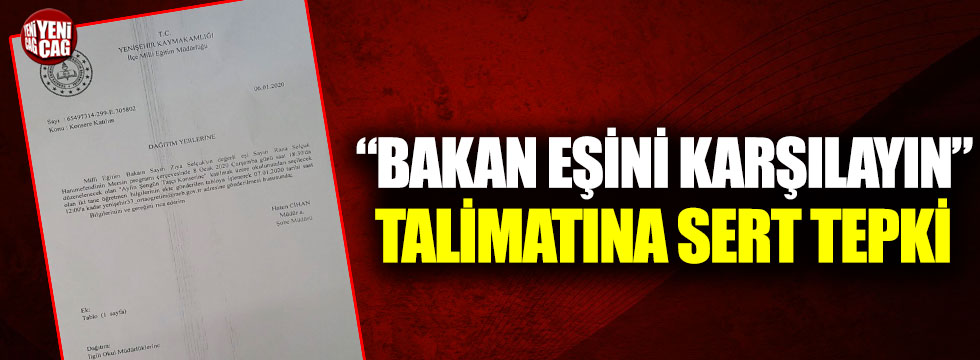 """""""Bakan eşini karşılayın"""" talimatına İYİ Partili Koncuk'tan eleştiri"""