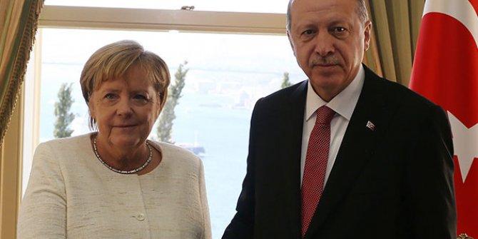 Recep Tayyip Erdoğan, Merkel ile görüştü
