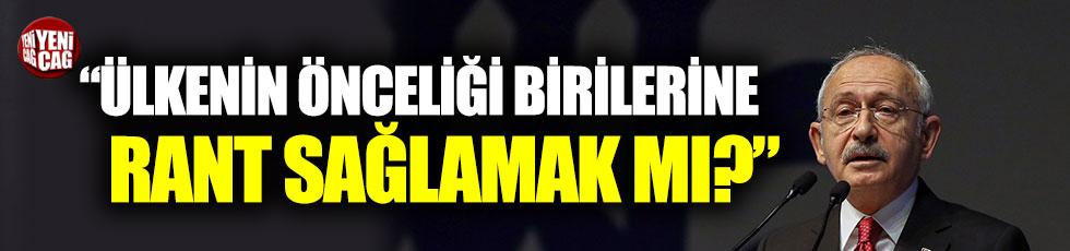 """Kemal Kılıçdaroğlu: """"Bu ülkenin öncelikleri birilerine rant sağlamak mı?"""""""